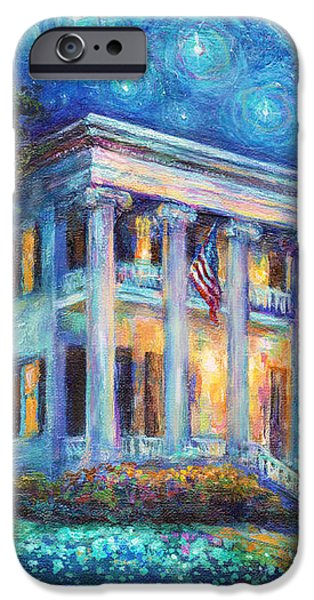 Texas Governor Mansion painting iPhone Case by Svetlana Novikova