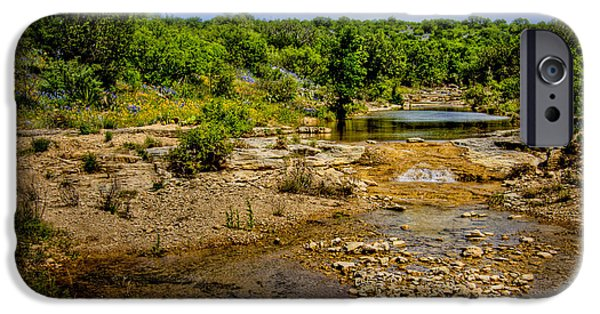 Fed iPhone Cases - Texas Hill Country Stream iPhone Case by David and Carol Kelly