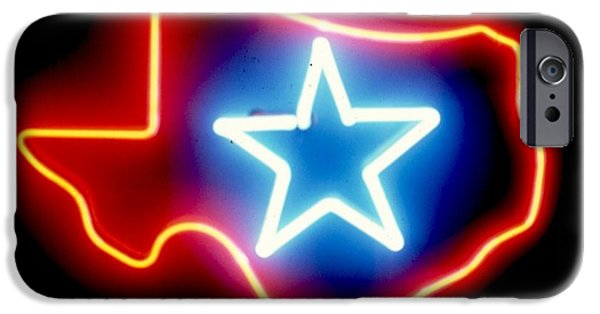 States Sculptures iPhone Cases - Texas Lone Star State   iPhone Case by Pacifico Palumbo