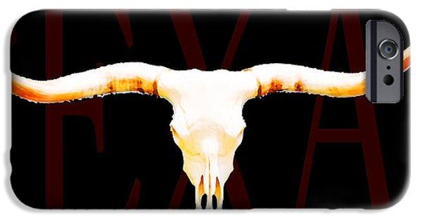 Bulls Mixed Media iPhone Cases - Texas Longhorns By Sharon Cummings iPhone Case by Sharon Cummings