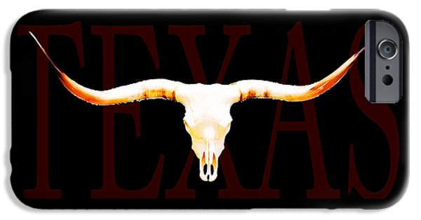 Bulls Mixed Media iPhone Cases - Texas Longhorns By Sharon Cummings iPhone Case by Sharon Cummings