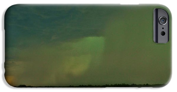 Turbulent Skies iPhone Cases - Texas Microburst iPhone Case by Ed Sweeney