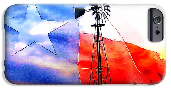 Photos With Red iPhone Cases - Texas My Texas iPhone Case by John Kain