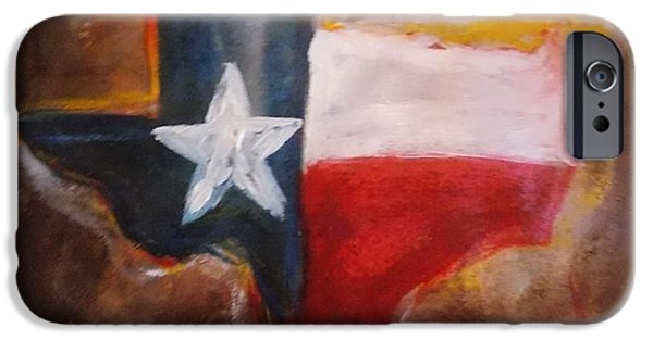 Conservative Paintings iPhone Cases - Texas iPhone Case by Niceliz Howard