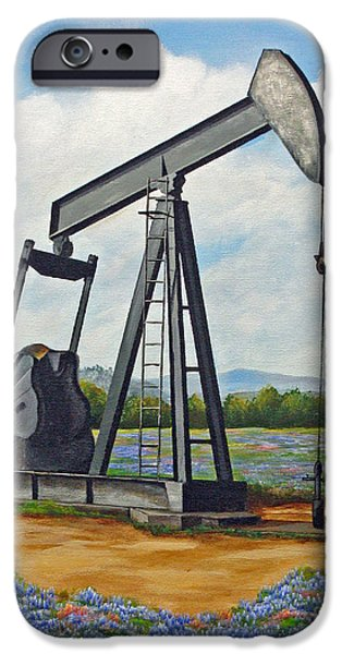 Texas Oil Well iPhone Case by Jimmie Bartlett