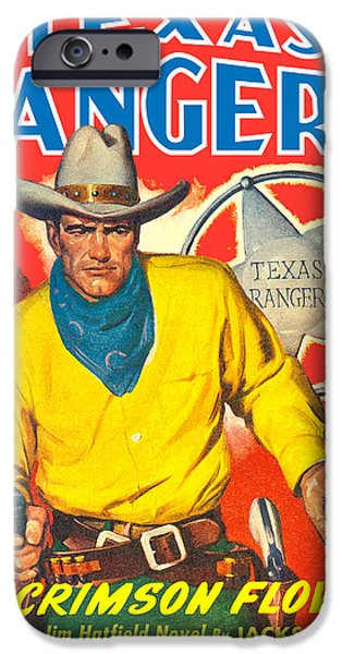Antiques iPhone Cases - Texas Rangers iPhone Case by Gary Grayson