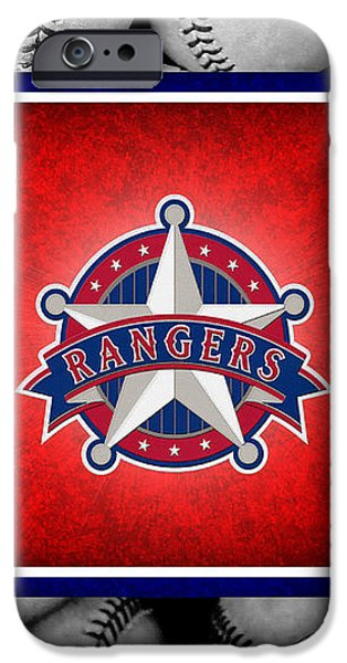 TEXAS RANGERS iPhone Case by Joe Hamilton