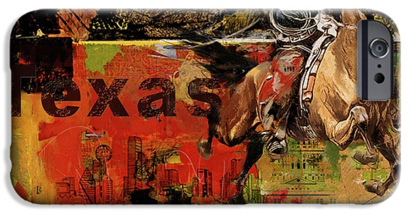 Arlington iPhone Cases - Texas Rodeo iPhone Case by Corporate Art Task Force