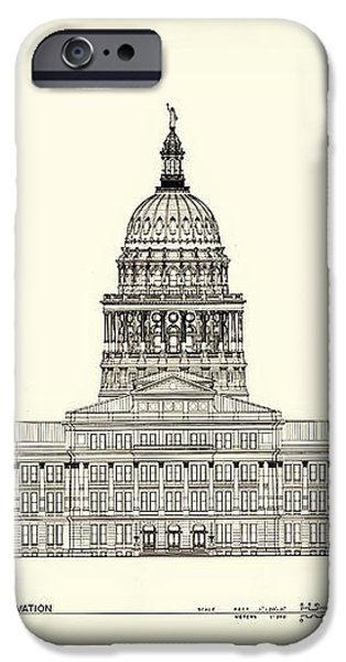 Texas State Capitol Architectural Design iPhone Case by Mountain Dreams