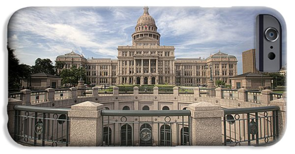 Flag iPhone Cases - Texas State Capitol IV iPhone Case by Joan Carroll