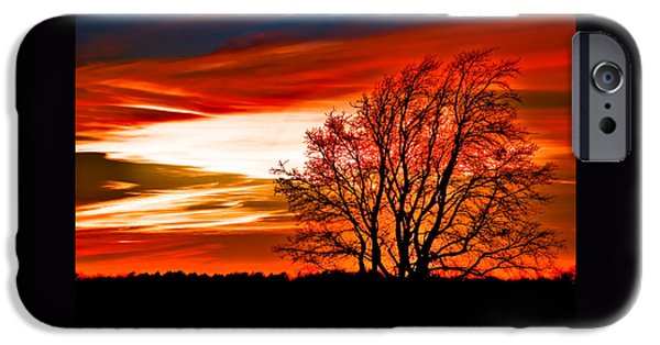 Fiery iPhone Cases - Texas Sunset iPhone Case by Darryl Dalton