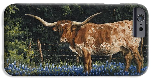Texas Longhorn iPhone Cases - Texas Traditions iPhone Case by Kyle Wood