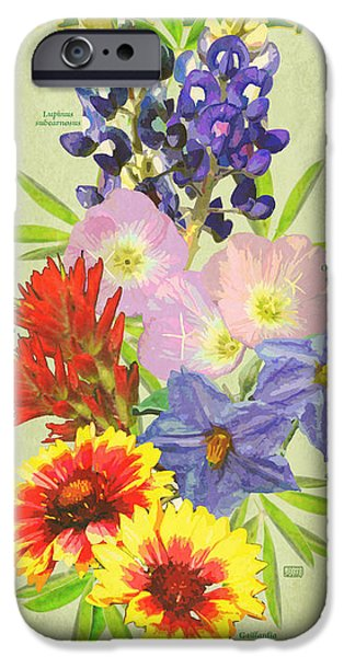 Recently Sold -  - Flora iPhone Cases - Texas Wildflowers iPhone Case by Jim Sanders