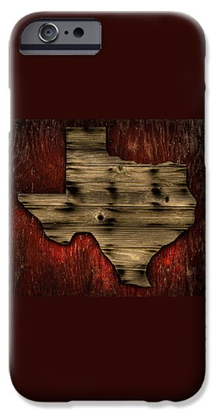 Wood Grain iPhone Cases - Texas Wood iPhone Case by Darryl Dalton
