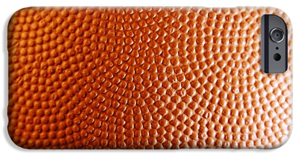 Basketballs iPhone Cases - Texture iPhone Case by Les Cunliffe