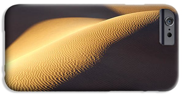 Texture iPhone Cases - Texture Pattern On Sand Dunes iPhone Case by Panoramic Images