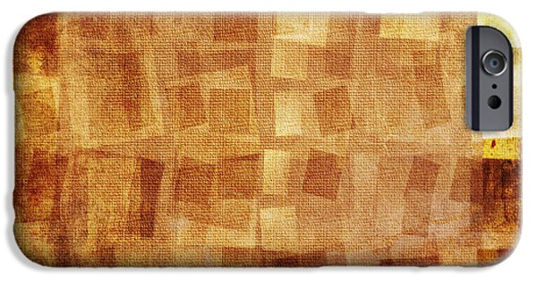 Conceptual Mixed Media iPhone Cases - Textured background iPhone Case by Jelena Jovanovic