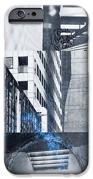 Buildings Mixed Media iPhone Cases - Textures Of The City iPhone Case by Pola Oginski