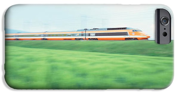 Technology iPhone Cases - Tgv High-speed Train Passing iPhone Case by Panoramic Images