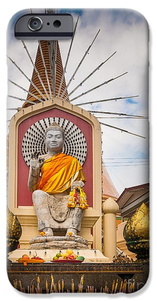 Buddhism iPhone Cases - Thai Buddha iPhone Case by Inge Johnsson
