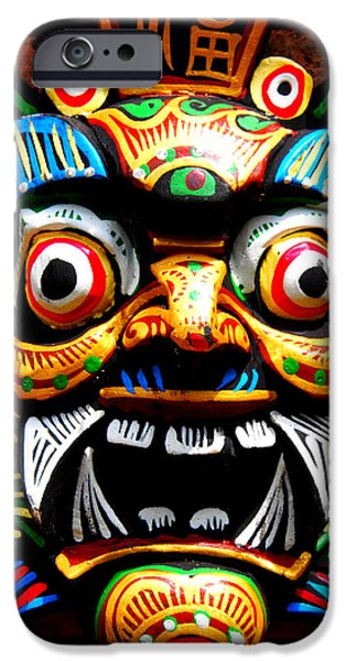 Buddhist iPhone Cases - Thai Buddhist Mask iPhone Case by Justin Woodhouse