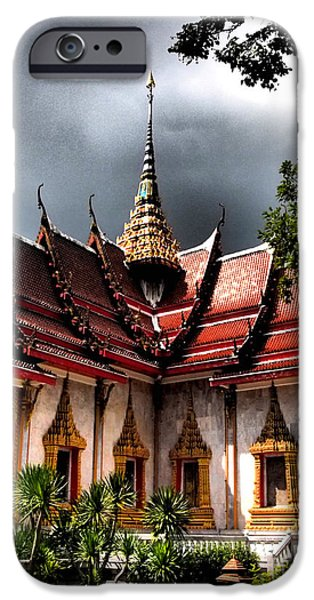 Buddhist iPhone Cases - Thai Buddhist Temple iPhone Case by Justin Woodhouse