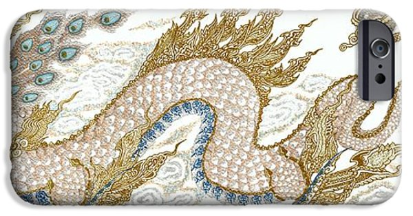 Serpent Mixed Media iPhone Cases - Thai Dragon iPhone Case by Jennifer  Anne Esposito