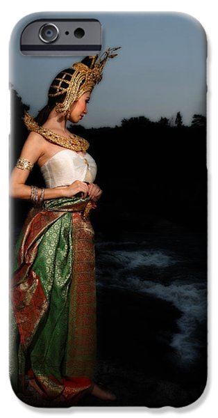 Festival Pyrography iPhone Cases - Thai Tradition Dress  iPhone Case by Jarin Inrungruang