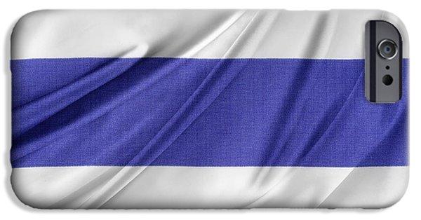 Textile Photographs iPhone Cases - Thailand flag iPhone Case by Les Cunliffe