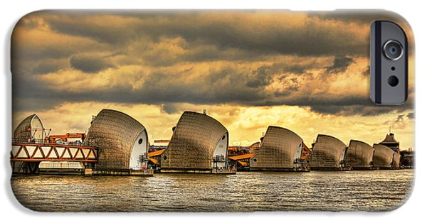 Floods Photographs iPhone Cases - Thames Barrier iPhone Case by Jasna Buncic