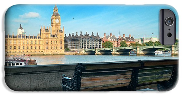 United iPhone Cases - Thames River Waterfront iPhone Case by Songquan Deng