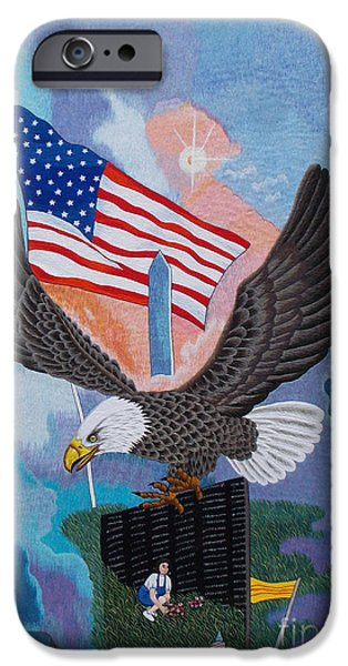 Freedom Tapestries - Textiles iPhone Cases - Thank You hand embroidery iPhone Case by To-Tam Gerwe