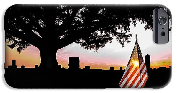 Cemetary iPhone Cases - Thank You iPhone Case by Michael Arend