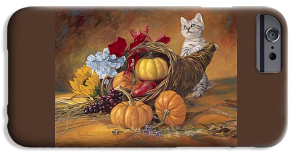 Kitten iPhone Cases - Thankful iPhone Case by Lucie Bilodeau