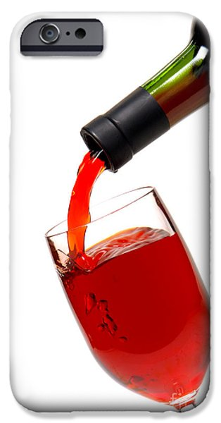 Wine Pour iPhone Cases - Thanks iPhone Case by Olivier Le Queinec