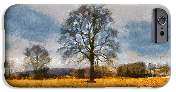 Beautiful Autumn Day iPhone Cases - Thanksgiving Day In Ohio iPhone Case by Dan Sproul