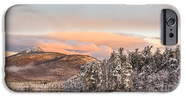 Mt Chocorua iPhone Cases - Thanksgiving Sunrise on Mt Chocorua iPhone Case by Scott Thorp