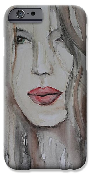 Seductive iPhone Cases - That Lips iPhone Case by Jindra Noewi