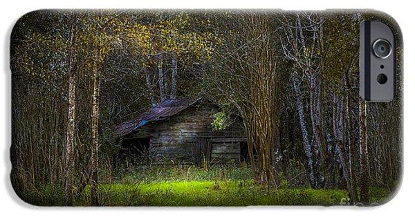 Old Fence Posts iPhone Cases - That Old Barn iPhone Case by Marvin Spates