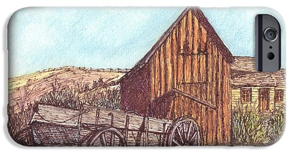 Old Barn iPhone Cases - That Which Once Was iPhone Case by Carol Wisniewski