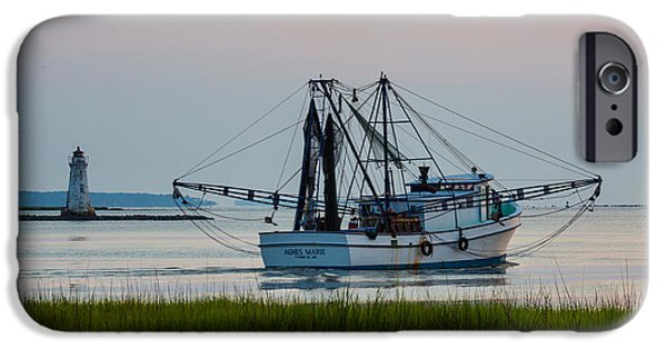 Tybee Island iPhone Cases - Thats Where the Shrimp Are My Boy iPhone Case by Walt  Baker
