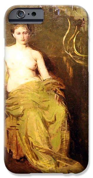 Cora Wandel iPhone Cases - Thayers Half Draped Figure iPhone Case by Cora Wandel