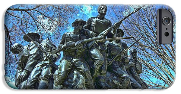 Wwi iPhone Cases - The 107th Infantry Memorial Sculpture iPhone Case by Allen Beatty