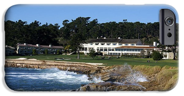Golfing iPhone Cases - The 18th At Pebble Beach iPhone Case by Barbara Snyder
