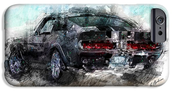 Mustang iPhone Cases - The 1967 Shelby GT-500 Eleanor iPhone Case by Gary Bodnar