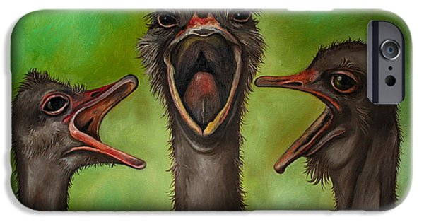 Emu iPhone Cases - The 3 Tenors edit 2 iPhone Case by Leah Saulnier The Painting Maniac