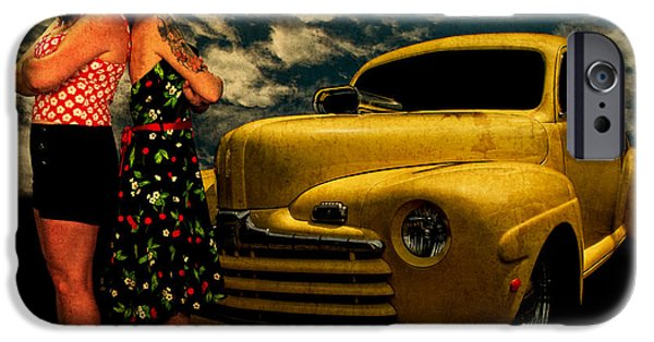 Betty Ford iPhone Cases - The 46 Ford and the Betties iPhone Case by Chas Sinklier