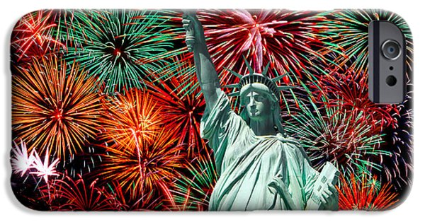 Independance Day iPhone Cases - The 4th of July iPhone Case by Anthony Sacco