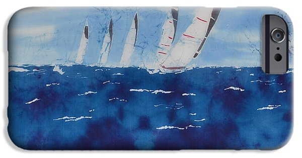 Sailboat Ocean Tapestries - Textiles iPhone Cases - The 5 Js iPhone Case by Kate Ford
