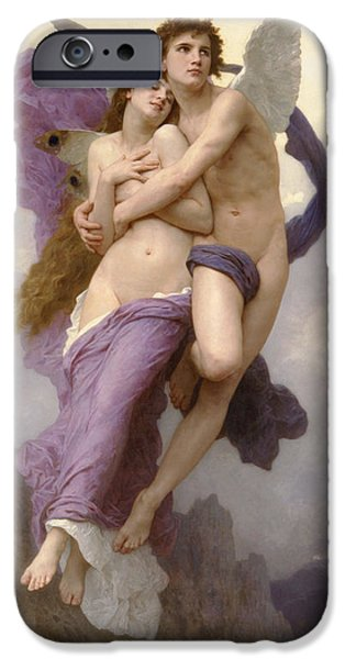 The Abduction of Psyche iPhone Case by William Bouguereau